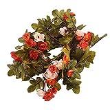 Koperras Multicolore Simulation Rose Fleurs Bouquet À La Main Floral Guirlande Guirlande Vigne pour Le Mariage pour La Maison Chambre Jardin Linteau DéCoration Ornements