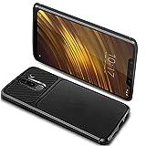 Ferilinso Coque Xiaomi Pocophone F1,Housse de Protection Souple Antichoc pour Xiaomi Pocophone F1 (Noir)