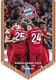 FC Bayern München 2020 Mini-Bannerkalender - 21x29,7cm - Fußballkalender - Wandkalender