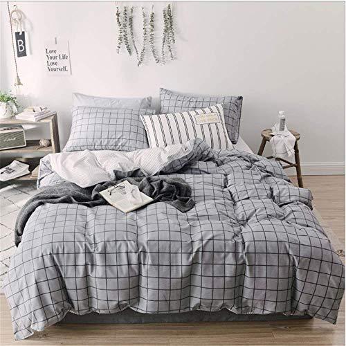 SHJIA Geometrie Bettwäsche Set Flache Bettdecke Bettbezug Tröster Erwachsene Königin König Bettwäsche Set B -