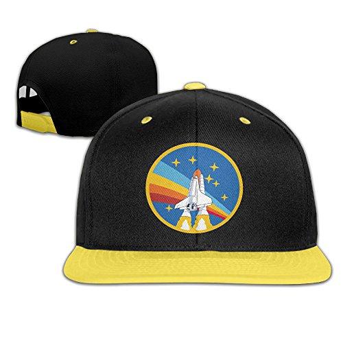 NASA Rocket Youth Unisex Kontrast Farbe Cap Baseball Mützen (4Farben) -  gelb -