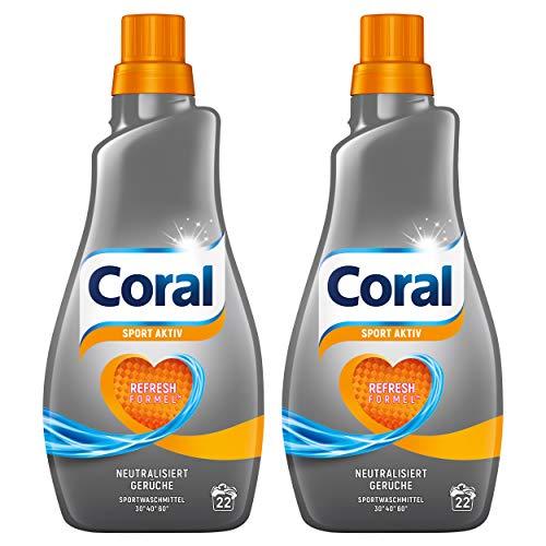 Coral Flüssigwaschmittel Activ flüssig, 2 (2x 1,1 l)
