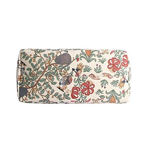 Borsa tote per Università donna di Signare a spalla in tessuto stile arazzo Alice nel Paese delle Meraviglie