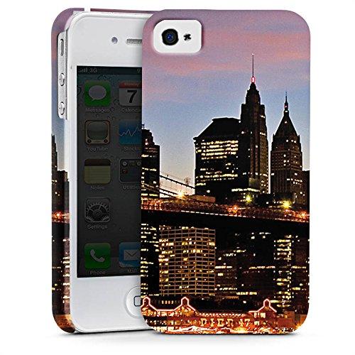 Apple iPhone X Silikon Hülle Case Schutzhülle New York Night Brücke Stadt Premium Case glänzend