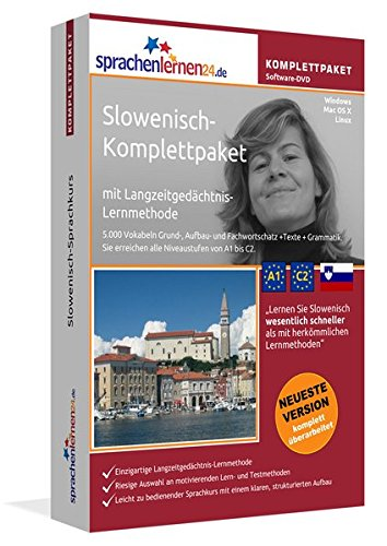 Preisvergleich Produktbild Slowenisch-Komplettpaket mit Langzeitgedächtnis-Lernmethode von Sprachenlernen24. Intensivkurs: Lernstufen A1 bis C2. Wortschatz & Grammatik. Software-DVD für Windows 10,8,7,Vista,XP/Linux/Mac OS X