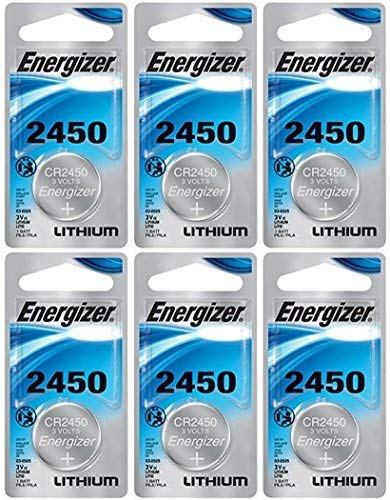 Energizer CR2450 Lithium Battery, 3v ECR2450, Qty:6