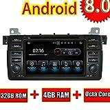 ROADYAKO 7Inch 2Din Android 8.0 Auto dvd für BMW E46 / M3 1998 1999 2000 2001 2002 2003 2004 2005 Radio Stereo GPS Navigation WIFI 3G RDS Spiegel Link FM