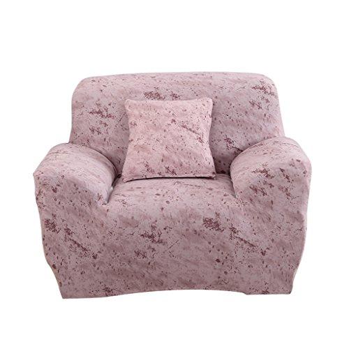 MagiDeal 1/2/3 Sedile Sofa Cover Copertina Copertura Copri da Divano Elastico Copridivani Federe per Decorazione Casa - Rosa chairo, 1-Seater 90-140cm