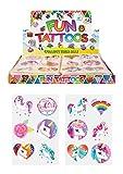 24 x Girls UNICORN Temporary Tattoos Childrens Birthday Party Bag Filler