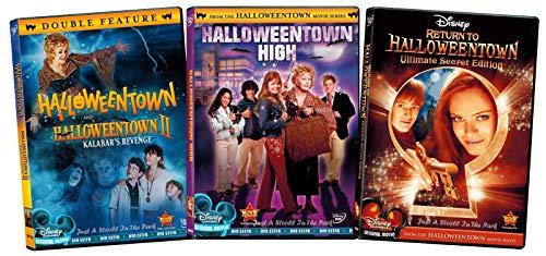 The Complete Witches Series Halloweentown Disney Halloween Magic 1 & 2 Kalabar's Revenge + Halloweentown High School & Return to Halloweentown Teen family fun 4 Feature Movies Treat Pack (Movie Disney Halloween)