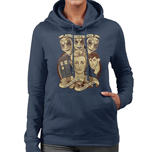 Doctor Who Clockwork Droids Women's Hooded Sweatshirt Navy Blue