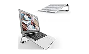 "Laptop Stand, Lamicall Ventilated Laptop Holder: Adjustable Desktop Laptop Riser Compatible with 10"" ~ 17"" Notebooks, like new 2018 Macbook, MacBook Pro Air mini, Surface, Dell XPS, HP, Lenovo, Desk Accessories - Silver"