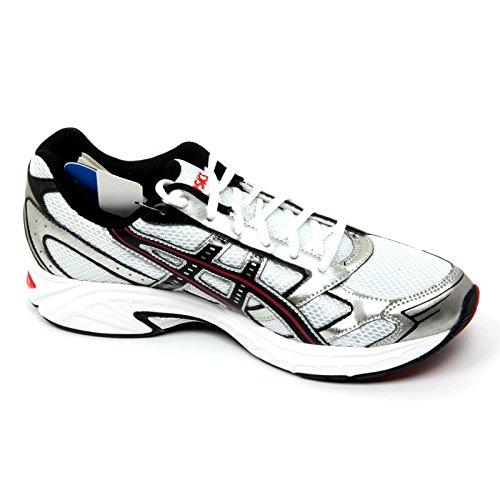 B9942 sneaker uomo ASICS GEL IKAIA 2 scarpa bianco/argento/nero shoe man Bianco/Argento