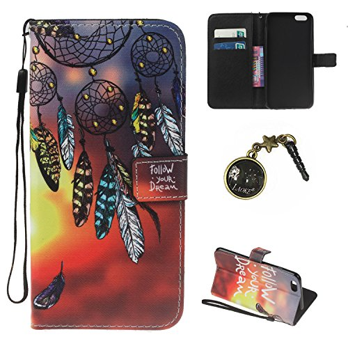 """Preisvergleich Produktbild iPhone 6 Hülle,iPhone 6 case vintage ledertasche, Handy Schutzhülle für Apple iPhone 6 (4.7"""") Hülle Leder Wallet Tasche Flip Brieftasche Etui Schale (+Staubstecker) (3)"""