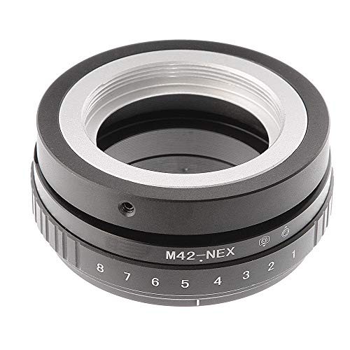 Shuangyu Tilt-Shift 360° Linse Drehen Sie den Lens Adapter für M42 Mount Objektiv auf Sony E-Mount Kamera NEX-3 NEX-3N NEX-3N NEX-5 NEX-5 NEX-F3 A6000 A5000 A3000 Alpha A7 A7R DSLR Kamera Tilt-adapter