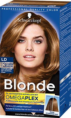 Schwarzkopf Blonde Aufheller LD Haarentfärber, Stufe 3, 3er Pack (3 x 142 ml) - Haar-entferner Braun