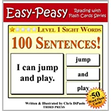 Level 1 Sight Words - 100 Sentences with 50 Word Flash Cards! (Easy Peasy Reading & Flash Card Series Book 11) (English Edition)