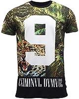 Criminal Damage Mens T Shirt 'Wildcat' Multi Colour New