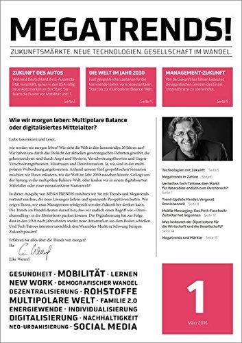 Abonnement-programm (MEGATRENDS! März 2016: Zukunftsmärkte. Neue Technologien. Gesellschaft im Wandel.)