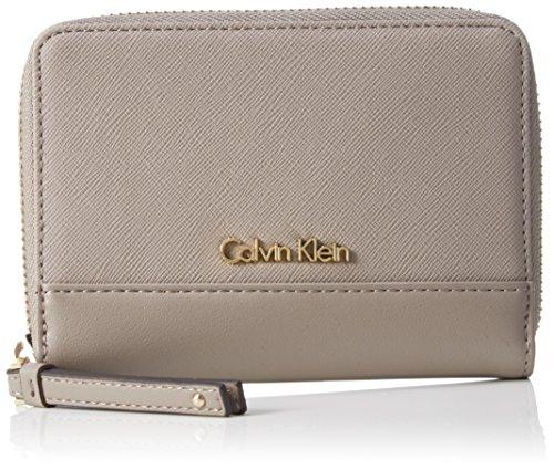 Calvin Klein JeansM4RISSA MEDIUM ZIPAROUND - Portafogli Donna , Grigio (Grau (FUNGI 094)), 12x15x2 cm (B x H x T)