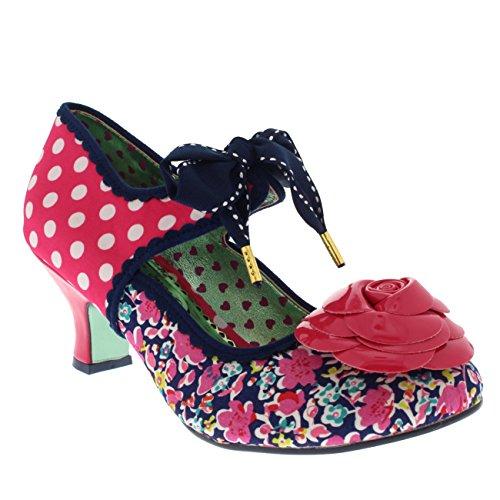 Damen Poetic Licence Summer Sands Tupfen Kätzchen Ferse Gericht Schuhe Multicolour (Pink)