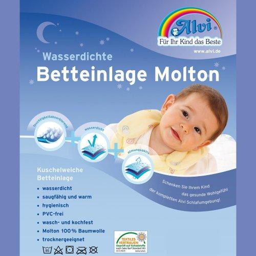 """Preisvergleich Produktbild Alvi 93738 Betteinlage""""Molton"""", 50 x 90 cm"""