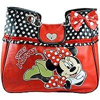 1e6c45c2cb Minnie Borsa Donna DELUXE a Spalla con Manici a Catena e Rouches Disney