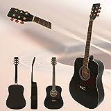CollectorGuitar CD50BK - Akustikgitarre/Westerngitarre mit Stahlsaiten Dreadnought Fichtendecke (Schwarz)