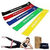 PROIRON Mini Bande Elastiche Bande di Resistenza Set di 5 Perfette per Allenamento Pilates Ginnastica Fitness Bande per Una Migliore Flessibilità E Forza di Braccio e gluteo