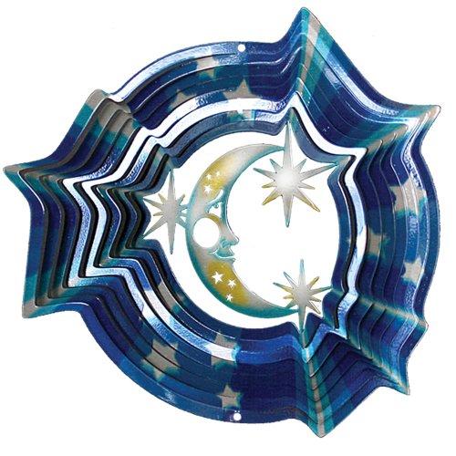 Stern 16 (Iron Stop Windspinner, Designer Windspinner, Mond und Sterne, 16 cm)