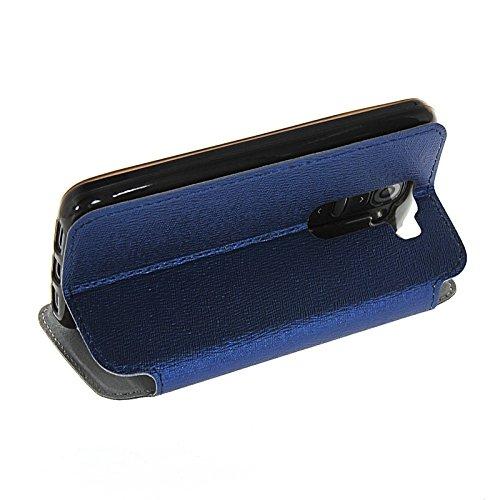 MOONCASE Coque en Cuir Portefeuille Housse de Protection Étui à rabat Case pour Apple iPhone 6 (4.7 inch) Brun saphir 02