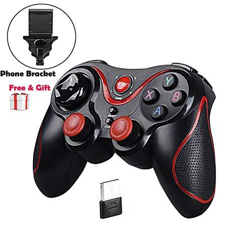 Acerca de Gamepad:   El gamepad está conectado por 2.4GHz y Bluetooth, compatible con la mayoría de los teléfonos inteligentes android, PC(windows), PS3, Smart TV.  Apoya la función de Joystick / Mouse+Media / Keyboard.    Las formas de Conexión:   ...