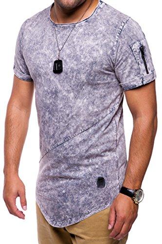 657fe410 MT Styles Oversize avec Zipper T-Shirt Homme C-9043