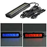 #5: Rrimin New Car 3in1 Digital LCD Clock Thermometer Battery Voltage Monitor