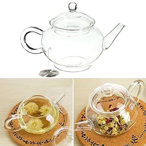 [Free Shipping] 250ml 8.5oz Glass Teapot Heat Resistant Tea Kettle BML® Brand // 8.5 oz cristal de 250ml tetera de calor tetera resistentes en