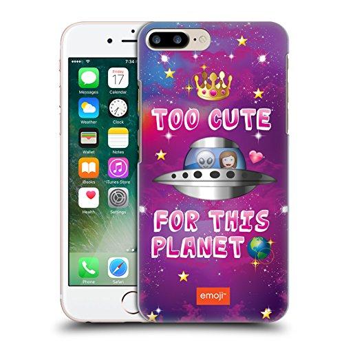 Ufficiale Emoji Casa Spazio Cover Retro Rigida per Apple iPhone X Troppo Carino