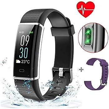 ABOX Bracelet Connecté Sport Étanche Écran Couleur Tactile iOS Android Bluetooth 14 Activités Podomètre GPS Tracker