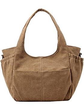 Super Modern Damen Casual Leinwand Tragetaschen Handtasche Hobos Bag Schulter Taschen top-hanle Tasche Einkaufstasche...
