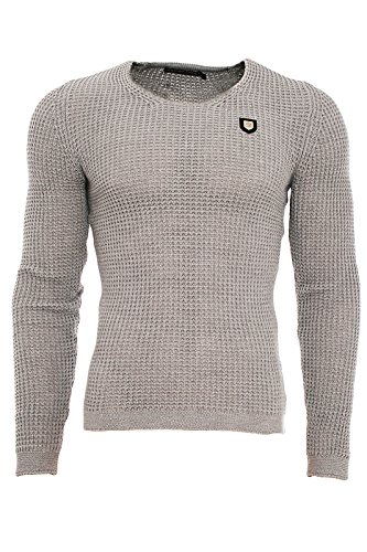 R31502 Redbridge Designer Herren Strick Pullover Knitewear (Classic-gestreifter Pullover Classic)