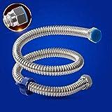 Moontang Schlauch verdickt 304 Edelstahl Wellrohr Rohr Wasserrohr heiß und kalt Explosionsschutz Metall Warmwasserbereiter aus dem Wasserrohr (Größe: 40cm) (Farbe : -, Größe : -)