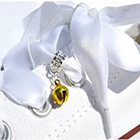 A Cute Little Gold Bell Dangle Trainer Charm from Pimp My Shoes for Converse Trainers