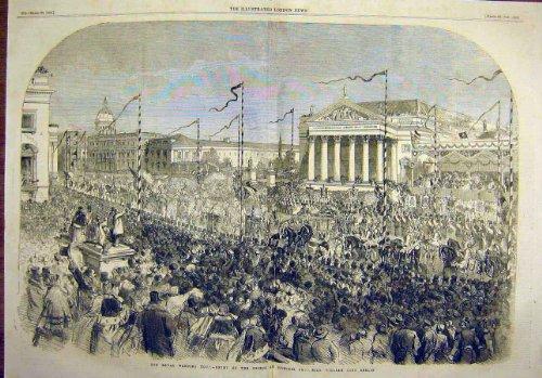 Königliche Prozession 1858 Hochzeits-Prinz-William Berlin