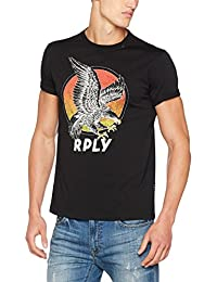 Replay Herren T-Shirt Eagle Print Shirt