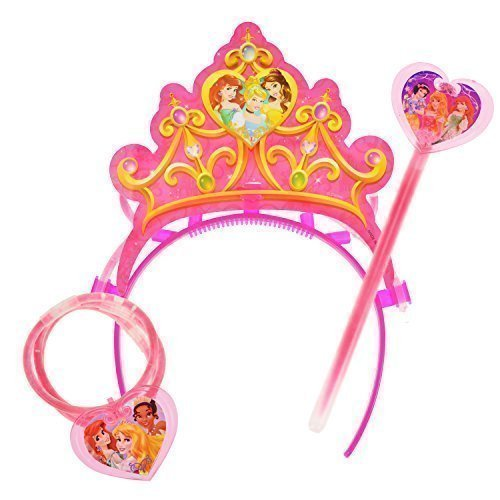 -in-the-Dark Necklace and Tiara Toy Set (Perfect Stocking Stuffers for Girls) (Dark Princess Disney)