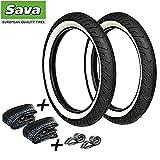 SET: 2 Weißwand Reifen MITAS - 2.75x16 + 2x Schläuche + 2x Felgenband für Simson (4)