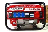 KRaftech - Stromgenerator mit 6.000W, Luftkühlung, 6,5HP, 4-Takter, 12,...