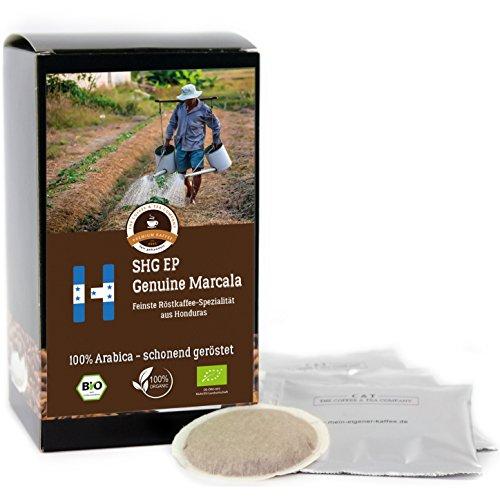 Kaffee Globetrotter - Honduras Genuine Marcala - Bio - 50 Premium Kaffeepads - für Senseo...