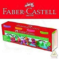 Faber-Castell 5170120048 Oyun Hamuru Klasik Renkler, 4 Renk