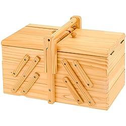 Emako - Costurero, diseño clásico con 5 compartimentos