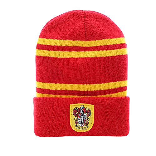 Harry Potter Beanie - Gryffindor. Slytherin or Ravenclaw - Cinereplicas (Gryffindor Rot )